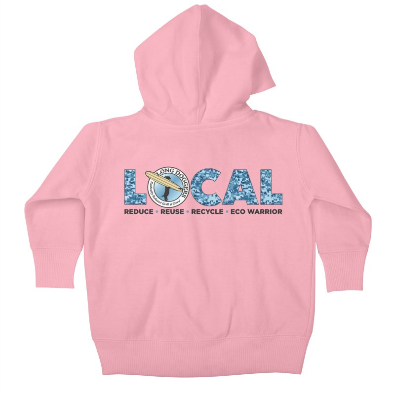 LOCAL ECO WARRIOR - digital water camo Kids Baby Zip-Up Hoody by Long Dogger's Merch Store