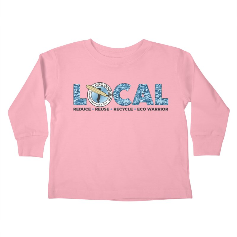 LOCAL ECO WARRIOR - digital water camo Kids Toddler Longsleeve T-Shirt by Long Dogger's Merch Store