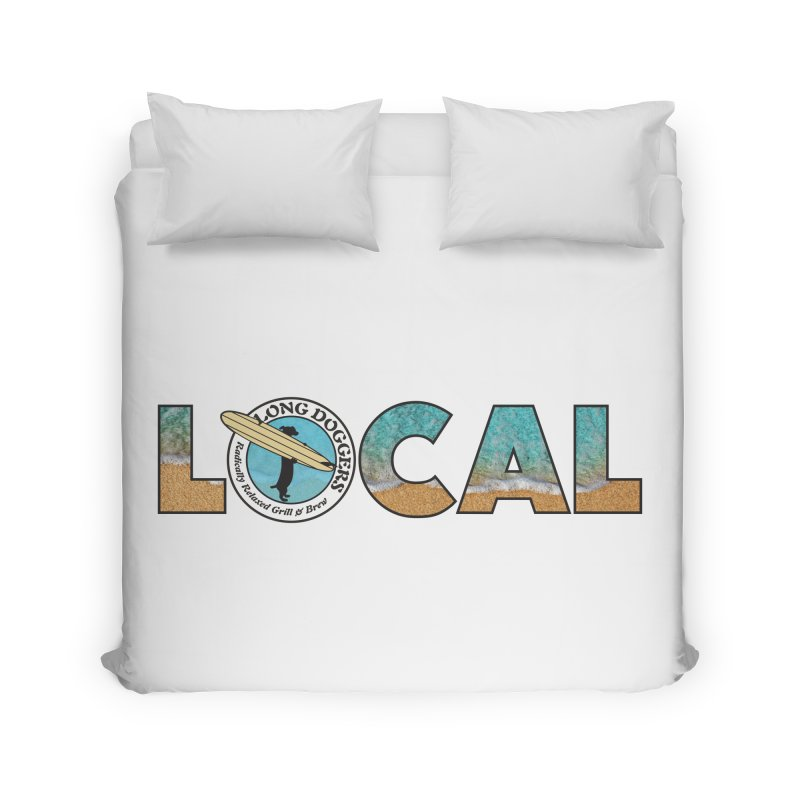 LOCAL - Ocean Background Home Duvet by Long Dogger's Merch Store