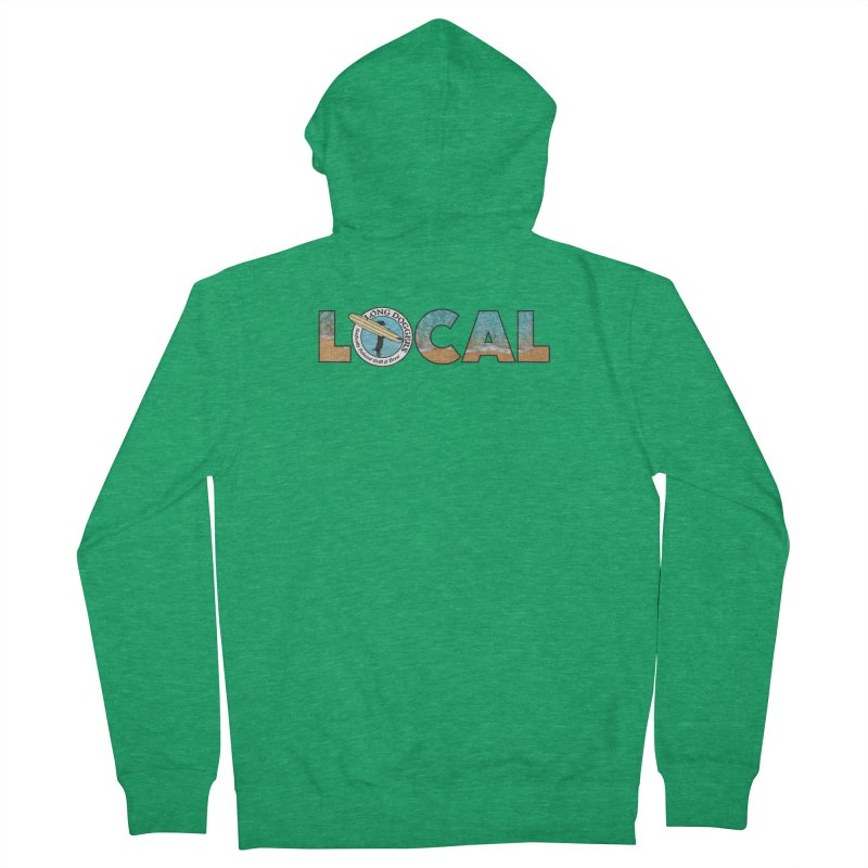 LOCAL - Ocean Background Women's Zip-Up Hoody by Long Dogger's Merch Store