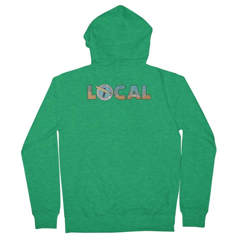 LOCAL - Ocean Background Men's Zip-Up Hoody by Long Dogger's Merch Store