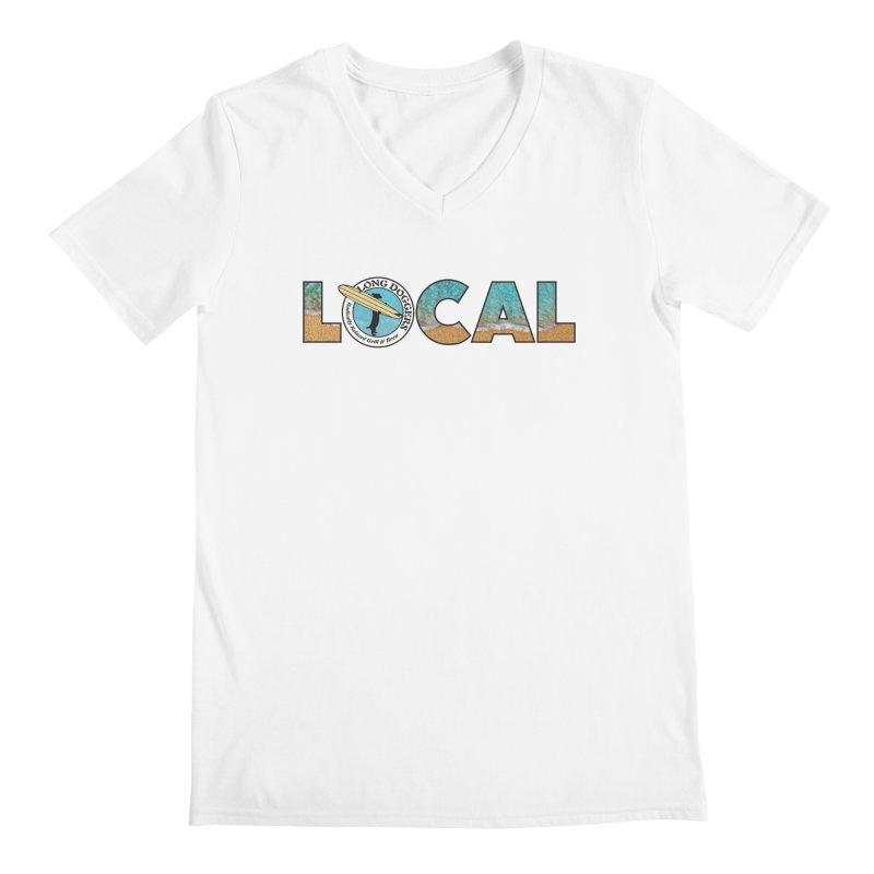 LOCAL - Ocean Background Men's V-Neck by Long Dogger's Merch Store