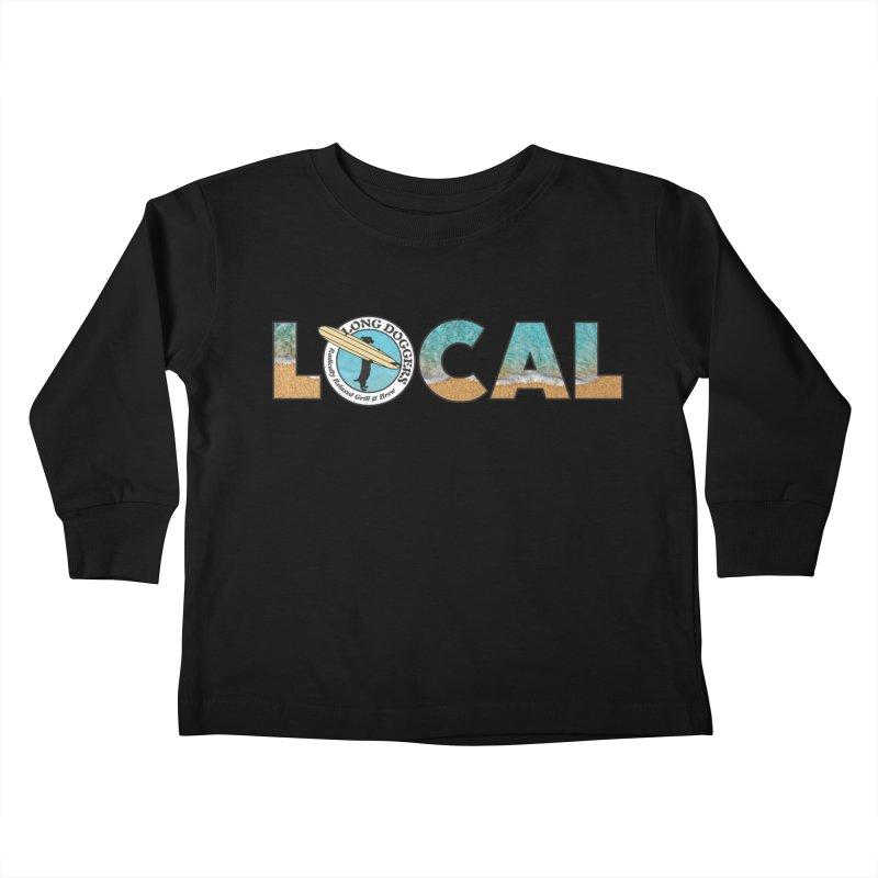 LOCAL - Ocean Background Kids Toddler Longsleeve T-Shirt by Long Dogger's Merch Store
