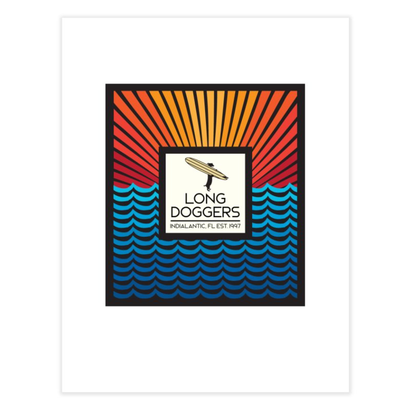 Long Doggers Florida Home Fine Art Print by Long Dogger's Merch Store