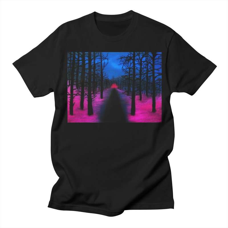 Stranger Scape in Women's Unisex T-Shirt Black by Long Gone Galaxy