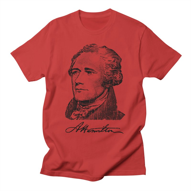 """Hamilton Revolution, the  """"$10 Founding Father"""" T-Shirt  Men's T-Shirt by Long Live the Kitty!"""