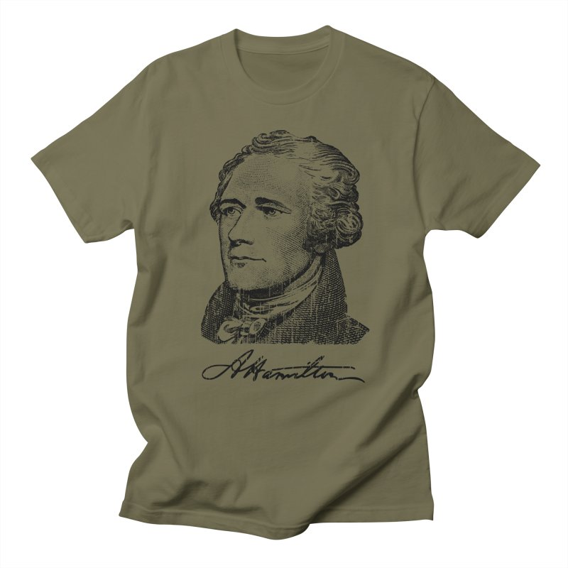 "Hamilton Revolution, the  ""$10 Founding Father"" T-Shirt  Men's Regular T-Shirt by Long Live the Kitty!"