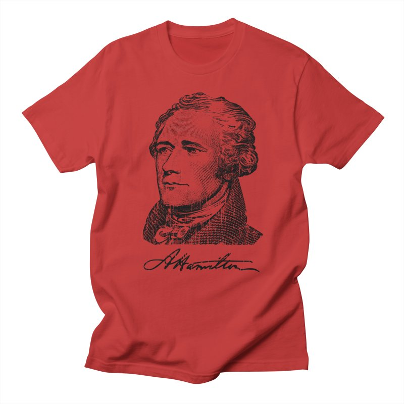 "Hamilton Revolution, the  ""$10 Founding Father"" T-Shirt  Men's T-shirt by Long Live the Kitty!"