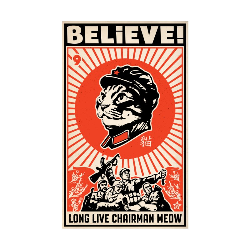 Believe! Long Live Chairman Meow: DARK Shirts Women's Fitted T-Shirt by Long Live the Kitty!