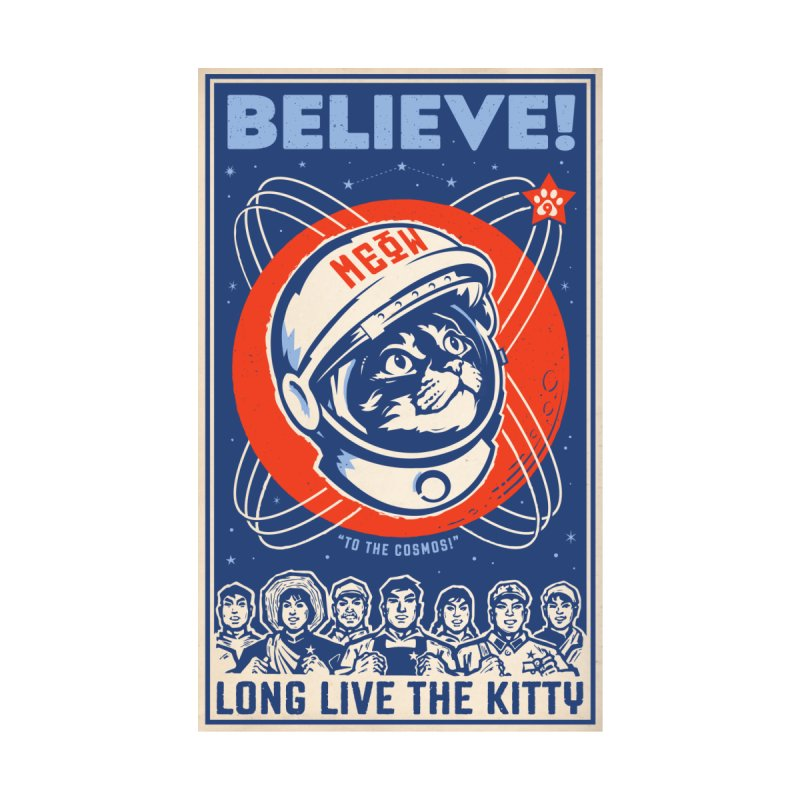 Believe: To the Cosmos! Long Live the Kitty: Space Cat, DARK Shirts Men's T-Shirt by Long Live the Kitty!