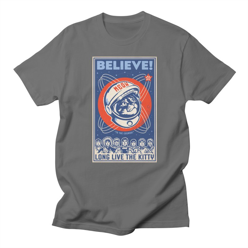 Believe: To the Cosmos! Long Live the Kitty: Space Cat, DARK Shirts Men's Regular Longsleeve T-Shirt by Long Live the Kitty!