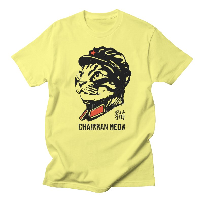 Chairman Meow: Icon of the Kitty Revolution Men's T-Shirt by Long Live the Kitty!