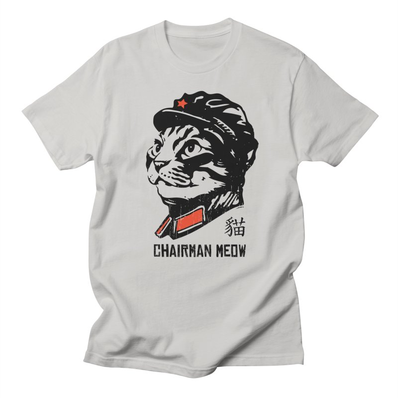 Chairman Meow: Icon of the Kitty Revolution Men's Regular T-Shirt by Long Live the Kitty!