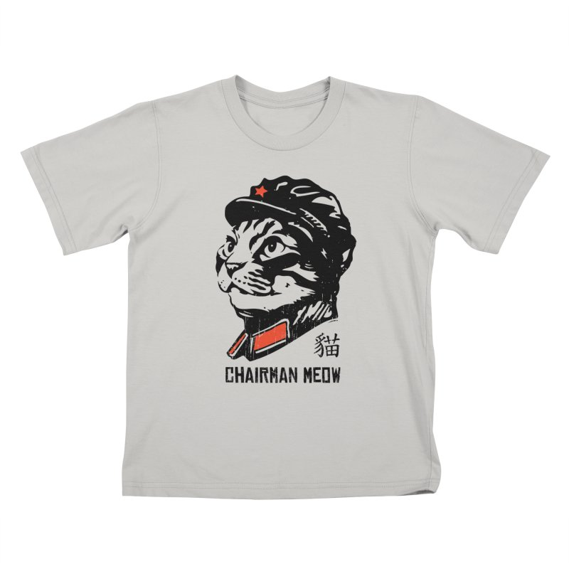 Chairman Meow: Icon of the Kitty Revolution Kids T-shirt by Long Live the Kitty!