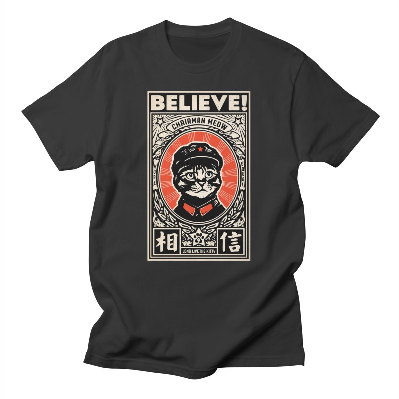Chairman Meow: More Equal - Dark Shirts Men's T-Shirt by Long Live the Kitty!