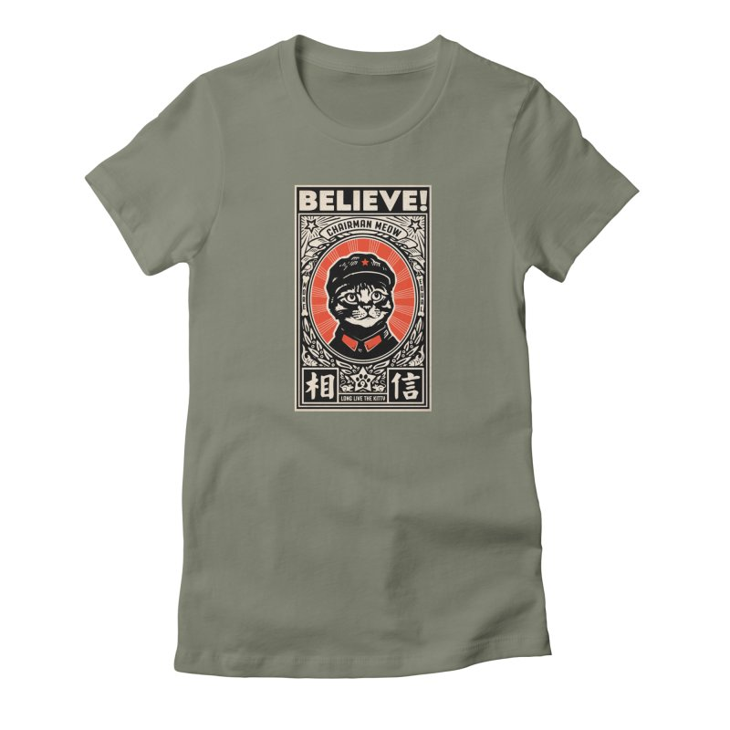 Chairman Meow: More Equal - Dark Shirts Women's T-Shirt by Long Live the Kitty!