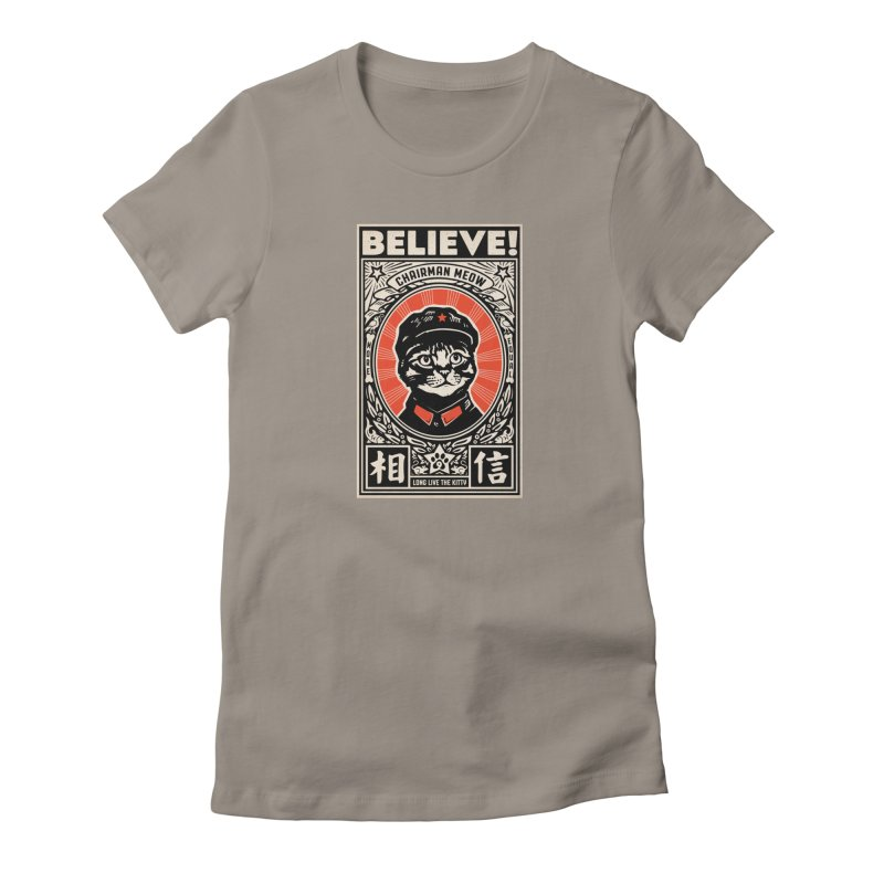 Chairman Meow: More Equal - Dark Shirts Women's Fitted T-Shirt by Long Live the Kitty!