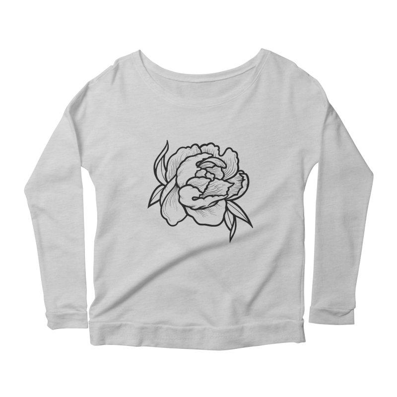 Paeon (Black) Women's Scoop Neck Longsleeve T-Shirt by loohicks's Artist Shop
