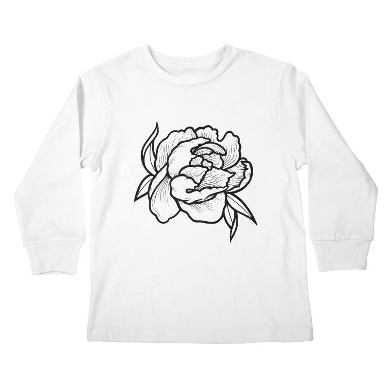 Paeon (Black) Kids Longsleeve T-Shirt by loohicks's Artist Shop