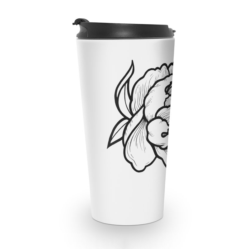 Paeon (Black) Accessories Travel Mug by loohicks's Artist Shop