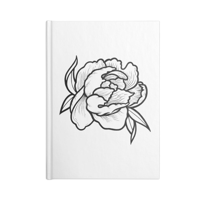 Paeon (Black) Accessories Lined Journal Notebook by loohicks's Artist Shop