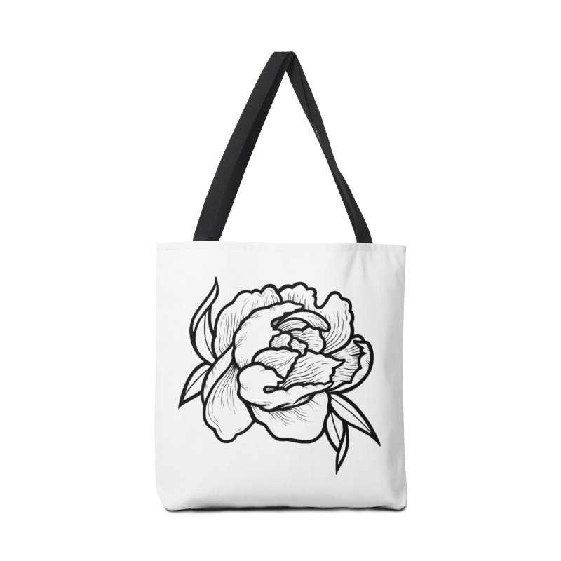Paeon (Black) Accessories Tote Bag Bag by loohicks's Artist Shop