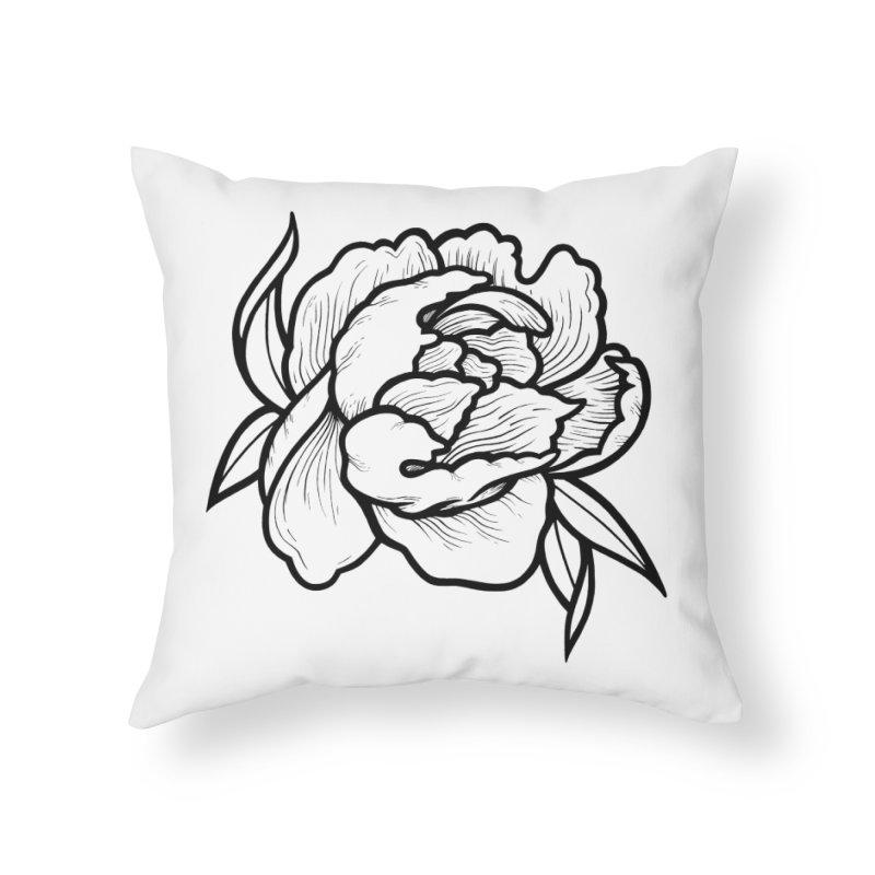 Paeon (Black) Home Throw Pillow by loohicks's Artist Shop