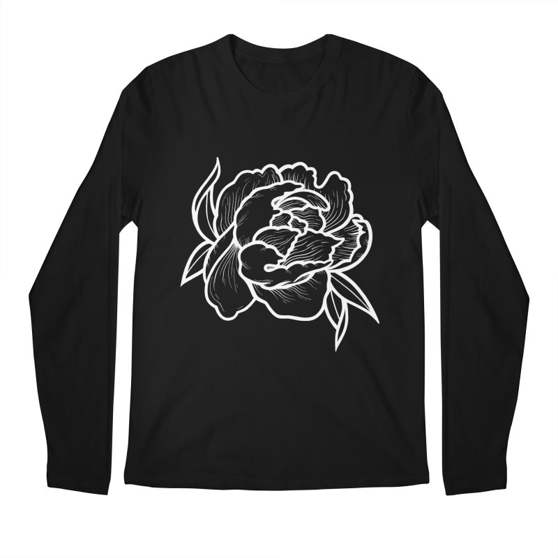 Paeon (White) Men's Regular Longsleeve T-Shirt by loohicks's Artist Shop