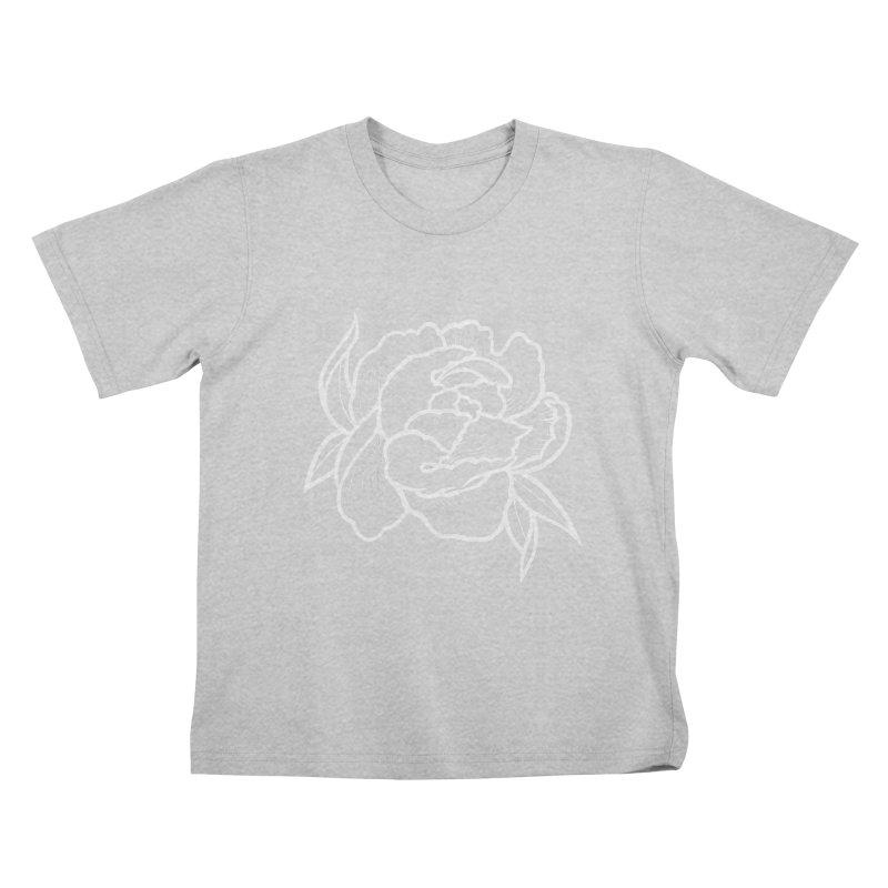 Paeon (White) Kids T-Shirt by loohicks's Artist Shop