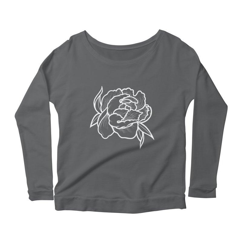 Paeon (White) Women's Scoop Neck Longsleeve T-Shirt by loohicks's Artist Shop