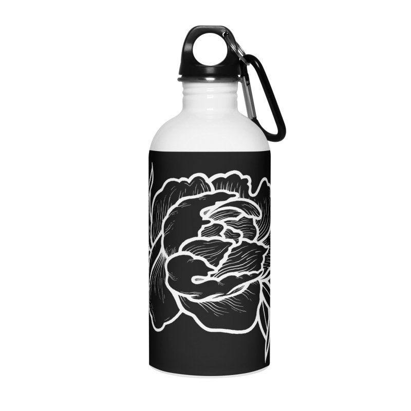 Paeon (White) Accessories Water Bottle by loohicks's Artist Shop
