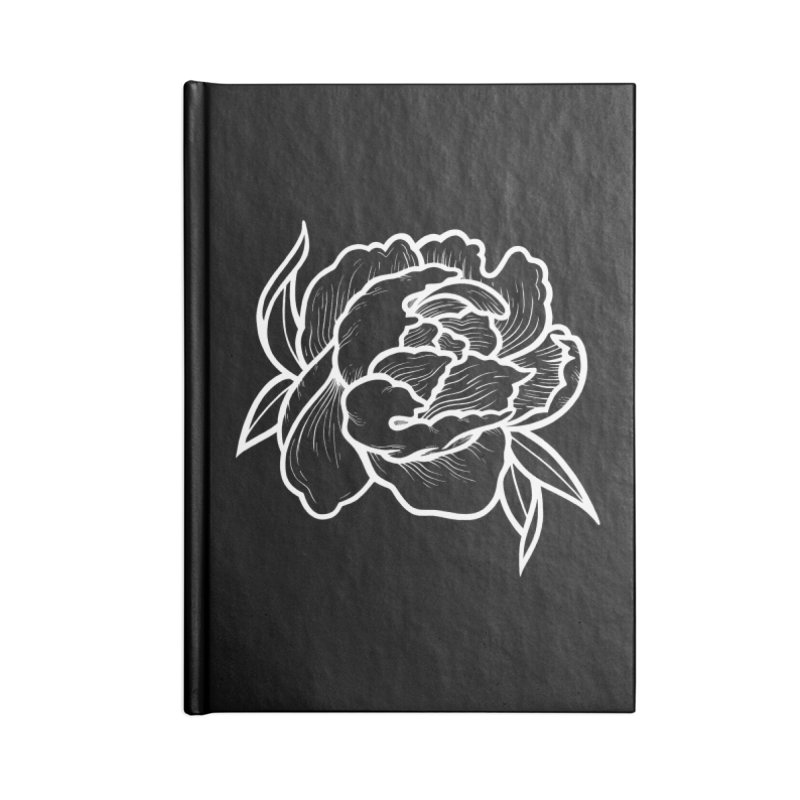 Paeon (White) Accessories Lined Journal Notebook by loohicks's Artist Shop
