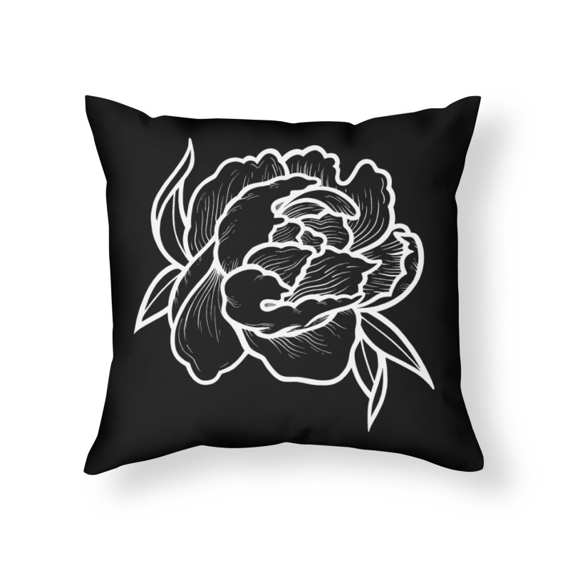 Paeon (White) Home Throw Pillow by loohicks's Artist Shop