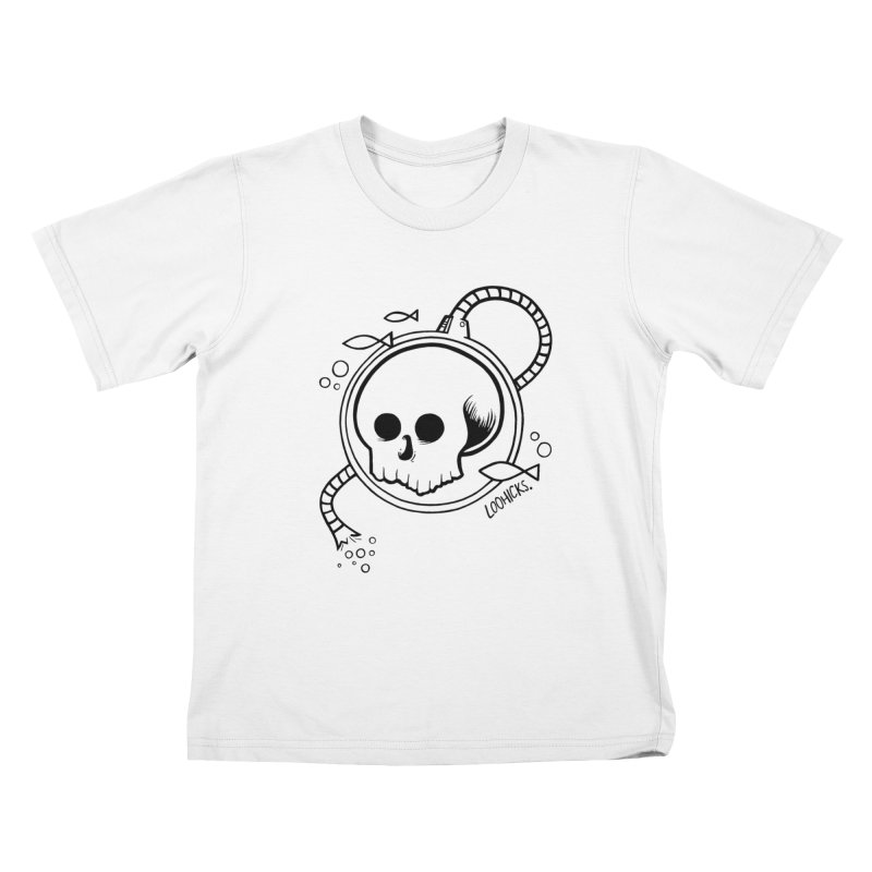 Swimmin' with the Fishes Kids T-Shirt by loohicks's Artist Shop