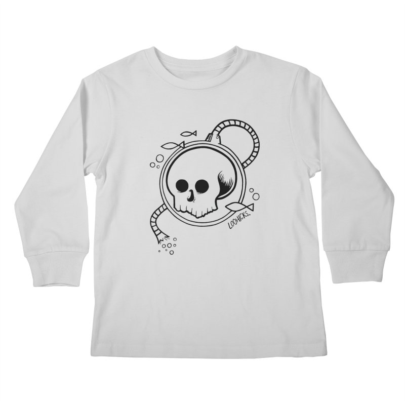 Swimmin' with the Fishes Kids Longsleeve T-Shirt by loohicks's Artist Shop