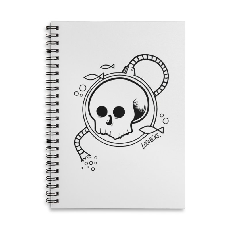 Swimmin' with the Fishes Accessories Lined Spiral Notebook by loohicks's Artist Shop