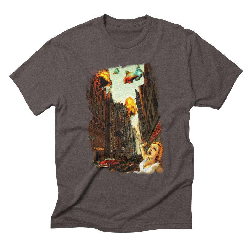 INVADERS! Men's Triblend T-Shirt by lopesco's Artist Shop