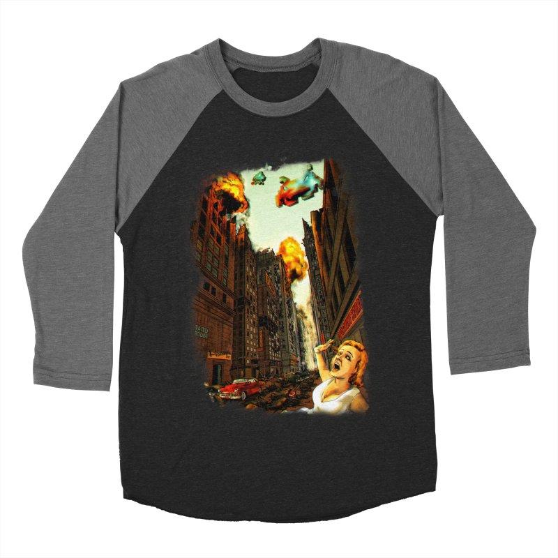 INVADERS! Men's Baseball Triblend T-Shirt by lopesco's Artist Shop