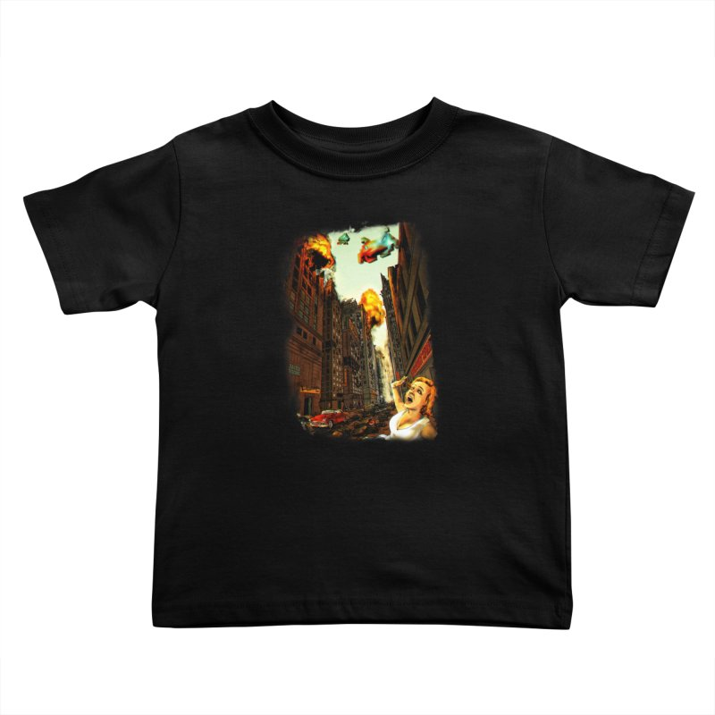INVADERS! Kids Toddler T-Shirt by lopesco's Artist Shop