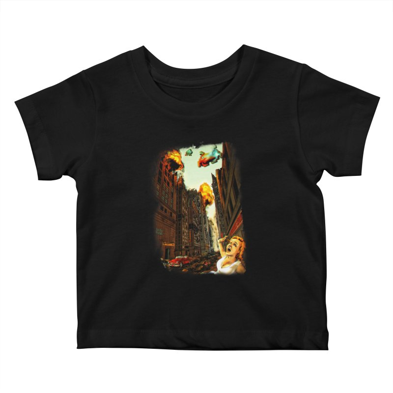 INVADERS! Kids Baby T-Shirt by lopesco's Artist Shop