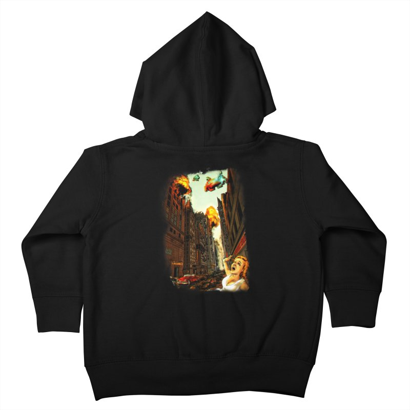 INVADERS! Kids Toddler Zip-Up Hoody by lopesco's Artist Shop