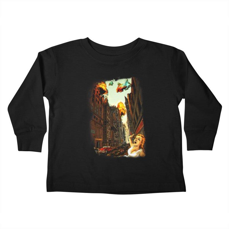 INVADERS! Kids Toddler Longsleeve T-Shirt by lopesco's Artist Shop