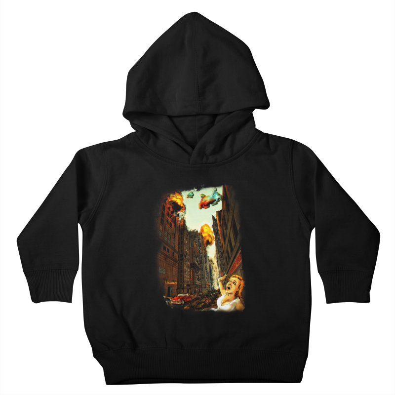 INVADERS! Kids Toddler Pullover Hoody by lopesco's Artist Shop