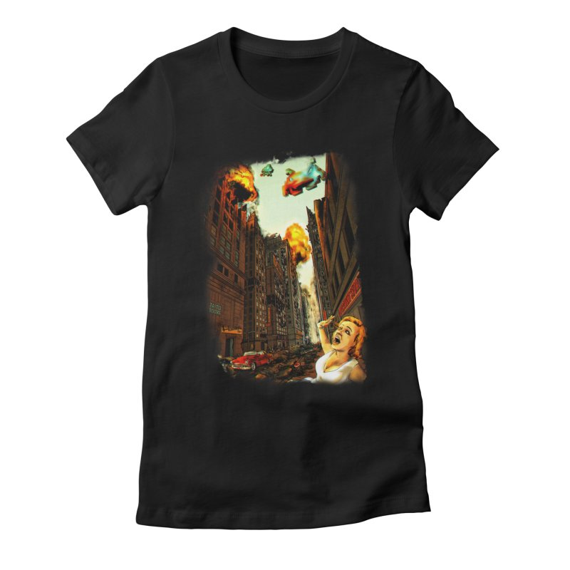 INVADERS! Women's Fitted T-Shirt by lopesco's Artist Shop