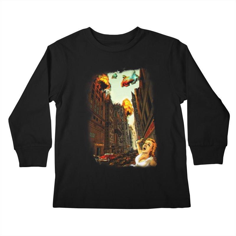 INVADERS! Kids Longsleeve T-Shirt by lopesco's Artist Shop