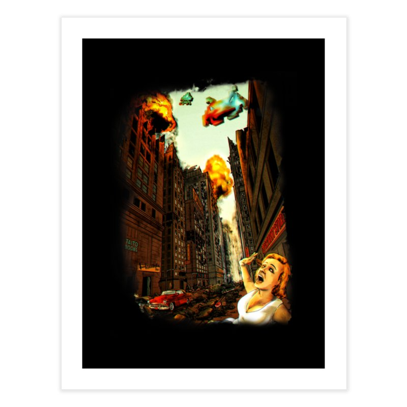 INVADERS! Home Fine Art Print by lopesco's Artist Shop