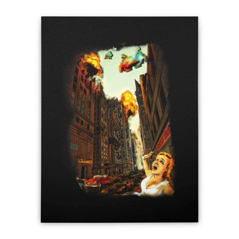 INVADERS! Home Stretched Canvas by lopesco's Artist Shop