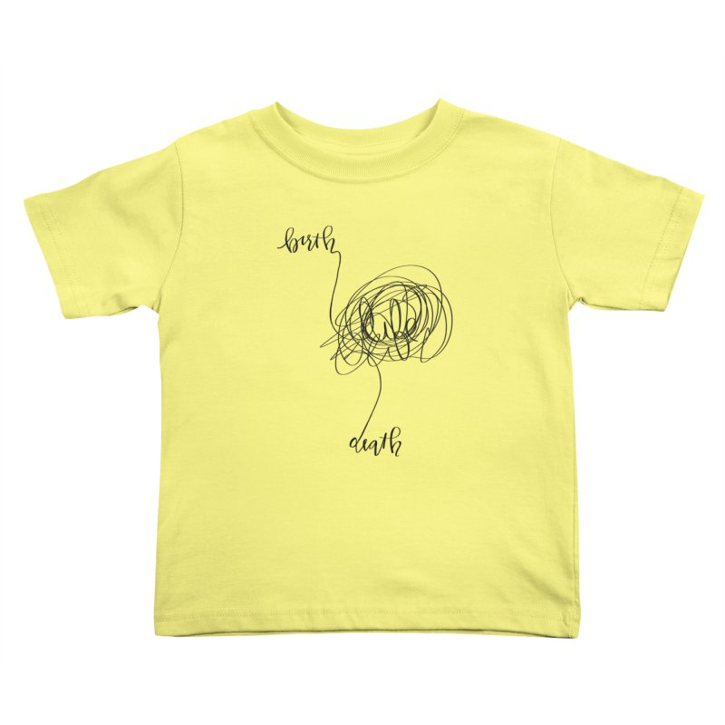 Lifelines Kids Toddler T-Shirt by lopesco's Artist Shop