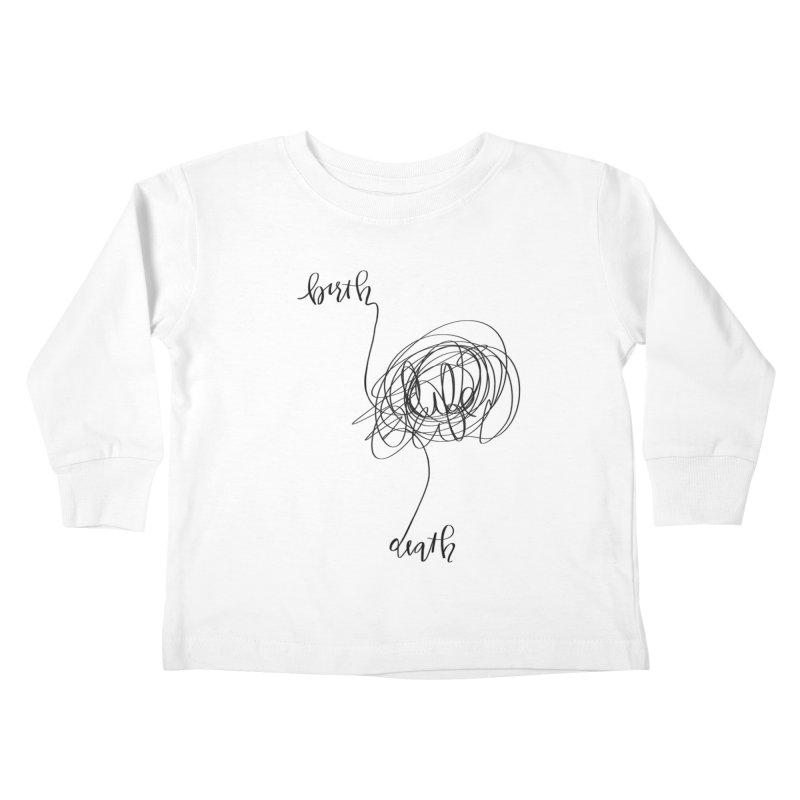 Lifelines Kids Toddler Longsleeve T-Shirt by lopesco's Artist Shop