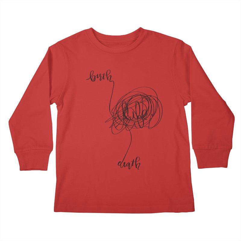 Lifelines Kids Longsleeve T-Shirt by lopesco's Artist Shop